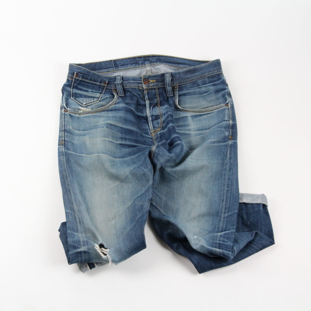 Worn in dry denim